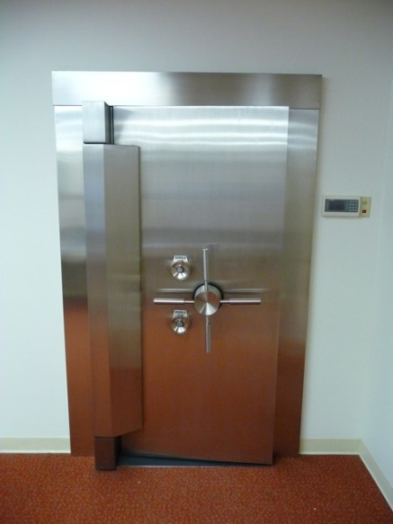 Diebold Stainless Steel Vault Door From National Bank